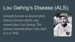 Image result for Gehrig death cause name