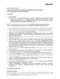 Linux Resume Format System Administrator Sample For Elegant It Admin