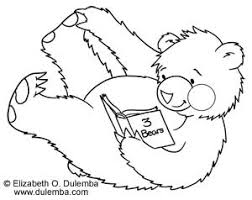 Small Picture dulemba Coloring Page Tuesday Roly Poly Reading Bear