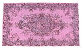 details about pink overdyed vintage rug 4x7 ft hand made oushak rugs actual 46 x 82