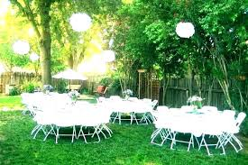 backyard party decoration ideas outdoor decorating for parties decorations decor engagement pa on a budget view