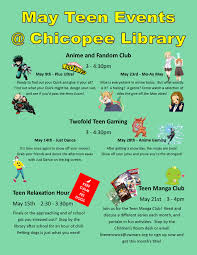Upcoming Events Flyer May 2019 Upcoming Events Chicopee Public Library Teen Space