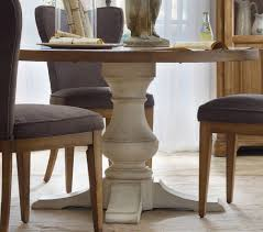 round rustic dining table pedestal