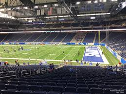 seat view for ford field section 110