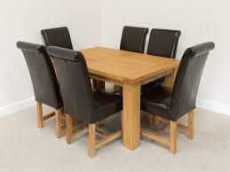 brown leather dining room chairs chair brown leather dining chairs dining table and 6 chairs black