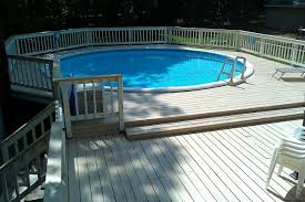 Image Oval Stunning Backyard Pool From Wooden Deck Ideas House Decor Its Amazing Wooden Deck Pool Ideas Decor Its