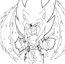 sonic and shadow coloring pages the hedgehog large super view larger