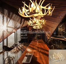 pure white antler chandelier 4 lamp holders ceiling lights rustic lighting fixtures 25 6 x 15 7 inches