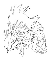 Dragon Ball Z Goku Coloring Pages - GetColoringPages.com