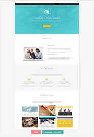 Single Page Website Template Best 28 One Page Website Templates For Your Business Small Business Trends