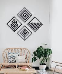 four elements metal wall art wall