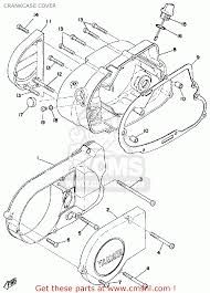 yamaha rs 100 engine diagram yamaha image wiring yamaha rs100 1975 usa crankcase cover schematic partsfiche on yamaha rs 100 engine diagram