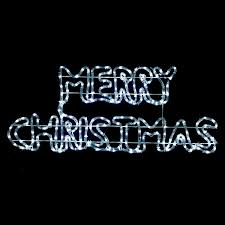Merry Christmas Light Up Sign For Roof Twinkling White Led Merry Christmas Rope Light Sign Decoration Indoor Outdoor