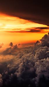 sunset sky clouds horizon scenic relaxing