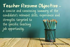 objective for teaching resume teaching resume objective samples