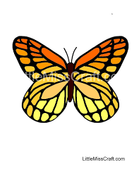 Small Picture Crafts Monarch Butterfly Coloring Page