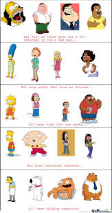 Simpsons & Family Guy & American Dad & The Cleveland Show by ... via Relatably.com