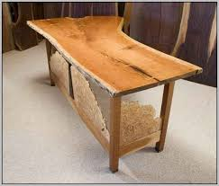 rustic wooden office desk