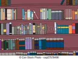 large cartoon bookshelf csp27578498