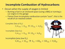 5 incomplete combustion