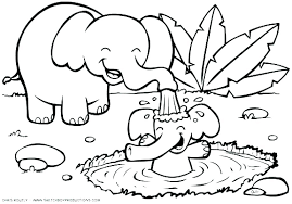 Coloring Pages Printable Animals Cute Pig Coloring Page Baby Animals