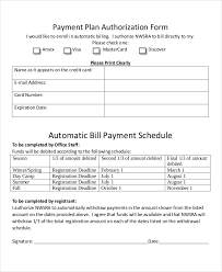 Automatic Withdrawal Form Template Bill Payment Schedule Template 13 Free Word Pdf Format