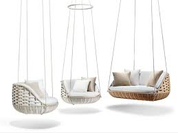 fabric garden suspended chair swingme swingrest extension collection by dedon