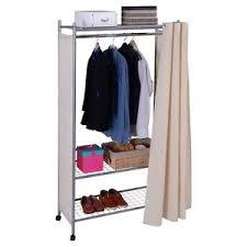 Portable Coat Rack Wheels Portable Clothes Coat Hanger Closet Storage Shelves Organizer Shoe 51