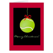 Tennis Christmas Card