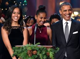 president obama wrote an essay about feminism and it is spot on   l r a obama sasha obama and u s president barack obama speak onstage