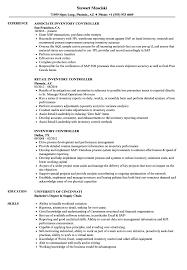 Inventory Controller Resumes Inventory Controller Resume Samples Velvet Jobs