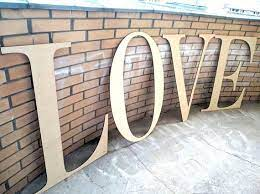 love set letters unfinished wooden