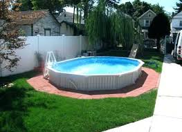semi inground pool ideas. Semi Inground Pool Installation Cost With Deck Ideas Inspiration