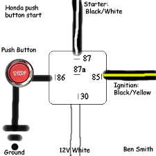wiring diagram for push button start the wiring diagram push button start and kill switch ignition bypass honda tech wiring diagram