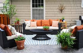 ... Amazing of Decorating Patio Ideas Patio Decorating Ideas A Modern Chic  Patio Refresh The Home Depot ...