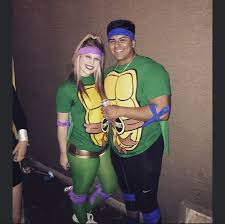 ninja turtles couples costumes. Wonderful Ninja DIY Ninja Turtle Couple Costume Couple Costumes Turtles Intended Couples Costumes N
