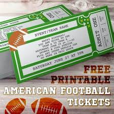 Free Football Invitation Templates Football Ticket Template