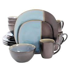 dinnerware set soft square teal metallic square blue dinnerware square blue glass plates