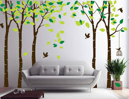 Trees Wall Decals Green Leaves ...