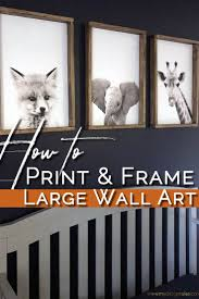 build a simple diy wooden frame for a few dollars in under an hour this