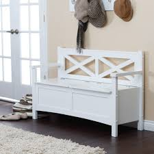 captivating white painted wooden ikea entryway bench with armrests and backrests under mount on wall