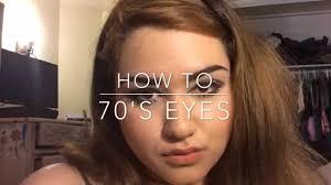 70 s inspired makeup tutorial