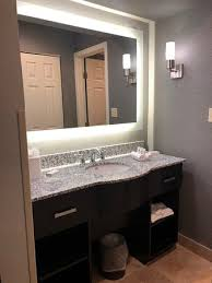 best vanity lighting. Homewood Suites By Hilton Chicago Schaumburg: Best Vanity Lighting Ever! Best N