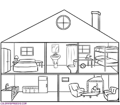 Small Picture Interior House Coloring PagesHousePrintable Coloring Pages Free