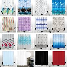 selection of quality brand new extra wide and long shower curtains with hooks
