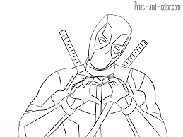 Baby Deadpool Coloring Pages Astounding Printable For Adults To