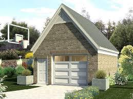 1 car gable roof garage