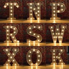 letter lighting. vintage metal led light diy letter n to x sign carnival wall marquee decoration lighting