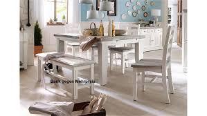 Tischgruppe Opus Esszimmer In Kiefer Massiv Weiß Vintage