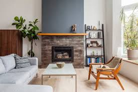 blue fireplace accent wall fireplace ideas